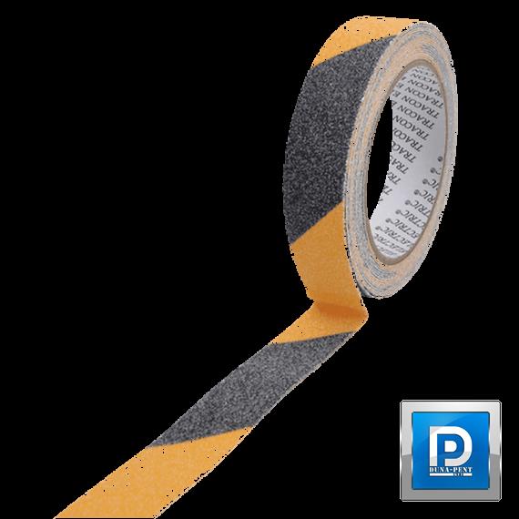 Csúszásgátló jelölőszalag sárga-fekete 25mm/5m